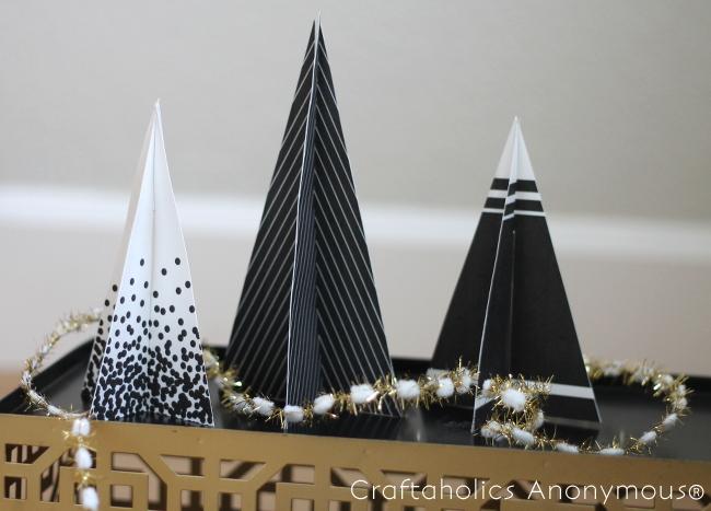 Free Printable 3D Christmas Trees