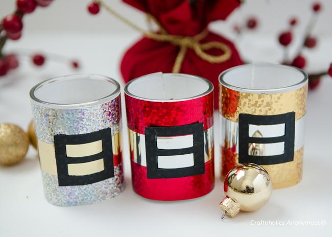 Santa candles. Make fantastic Handmade Christmas gifts or party favors!