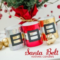 Santa Belt Votive Candles #MakeAmazing