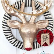 she's kinda crafty || Rudolph wreath