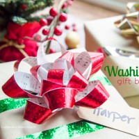 Washi Tape Gift Bows Tutorial #makeamazing