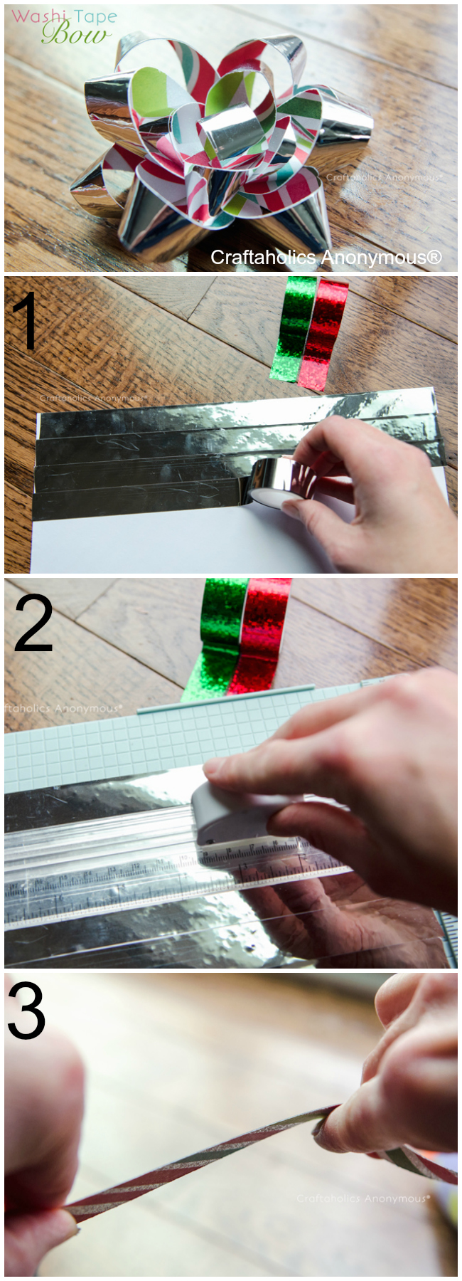 How to make Washi Tape bows