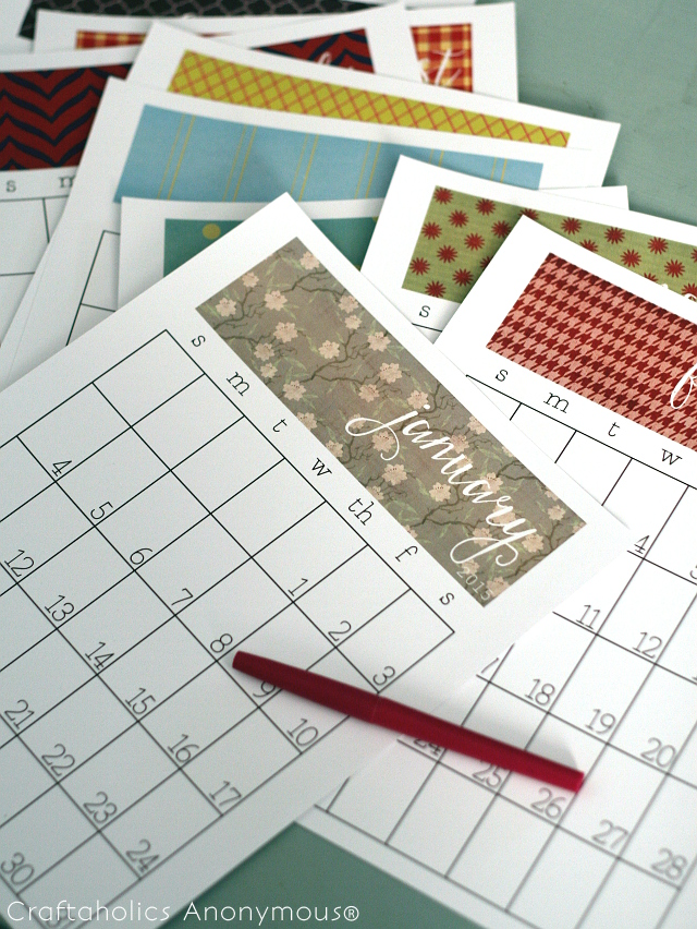 Craftaholics Calendar 2