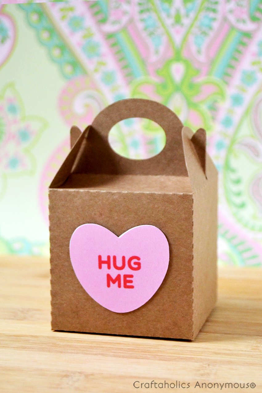 Valentine's Day gift box with Free Candy Heart printable