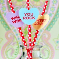 Free Candy Hearts Printable and Cut File