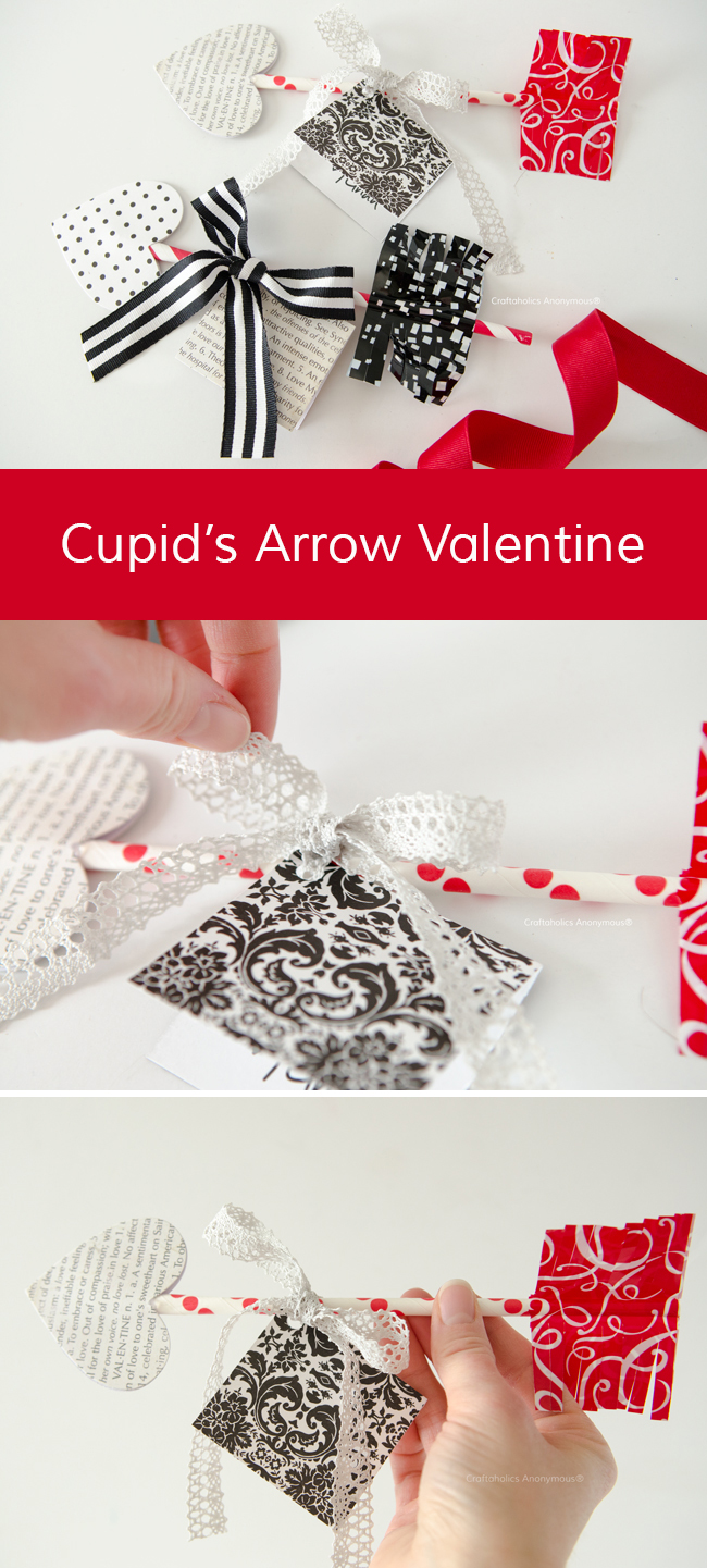 Cupid's Arrow Valentines || A great option for a non-candy DIY Valentine