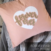 DIY Valentine's Day Pillow with Free Cut File