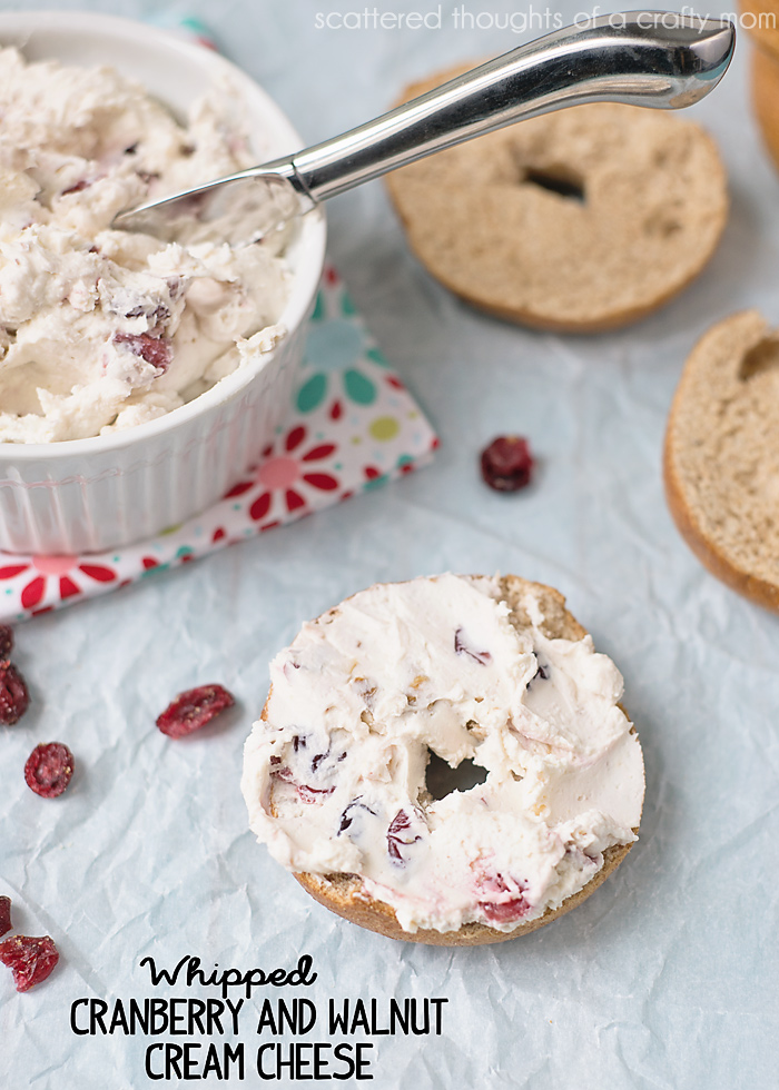 whipped Cranberry and walnut cream cheese
