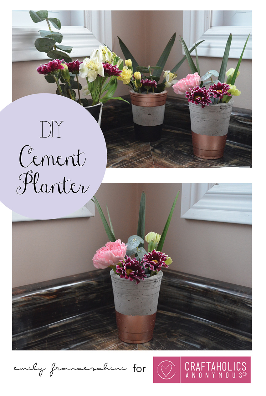 DIY Cement Planters || easy DIY decor to get that awesome industrial look on the cheap!