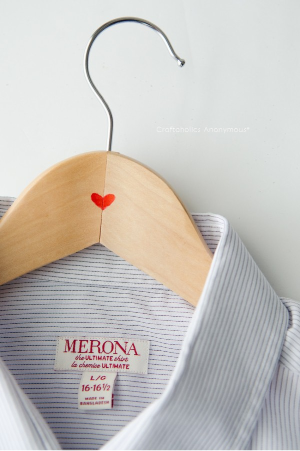 Easy Valentine for Him || Red Heart hangers