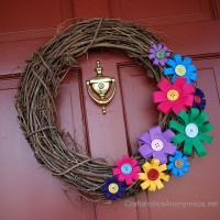 Colorful Spring Wreath Tutorial