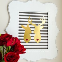 DIY Deer Couple Art