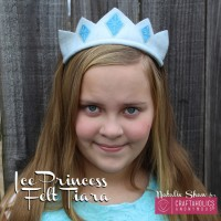 Frozen Inspired Ice Princess Felt Tiara