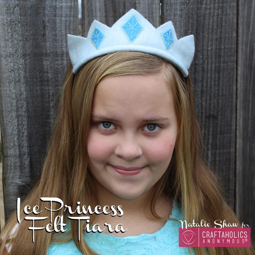 Frozen Inspired Ice Princess Felt Tiara