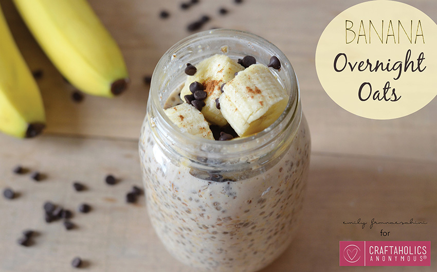 Chocolate Banana Overnight Oats recipe || Super easy to make and tastes amazing! Great texture and flavor.