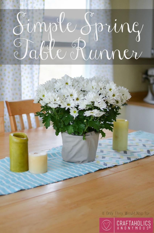 Simple Spring Table Runner