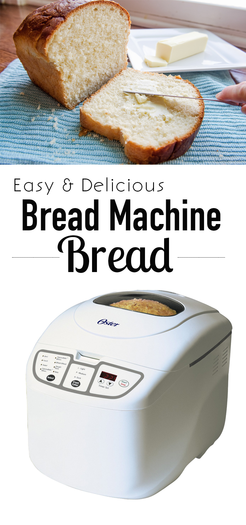 The most Delicious Bread Machine bread recipe ever! Get homemade bread the easy way.