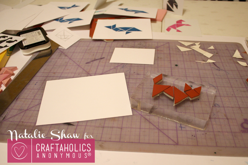 diy tangrams rubber stamps geometric cards (16)