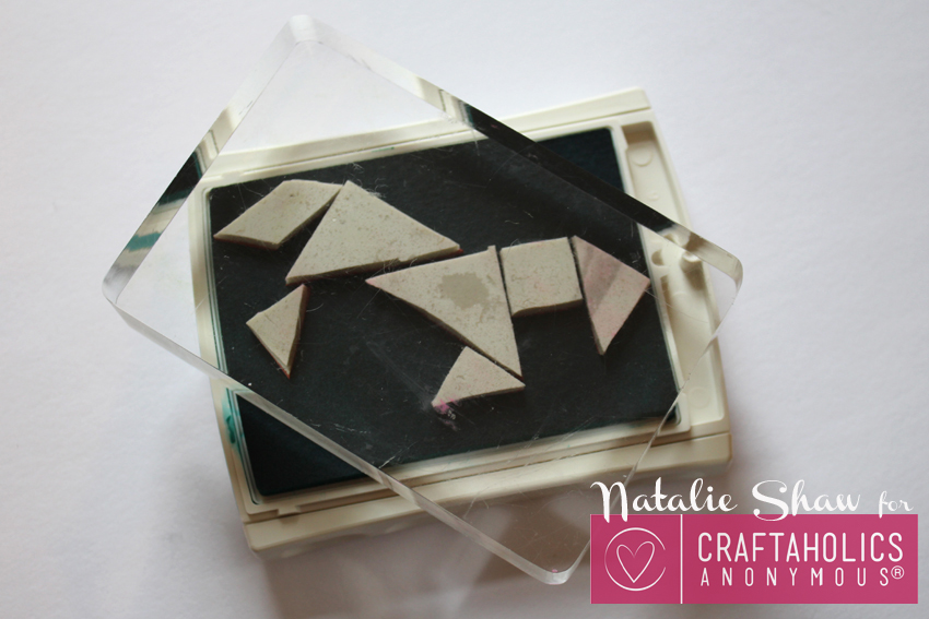 diy tangrams rubber stamps geometric cards (17)