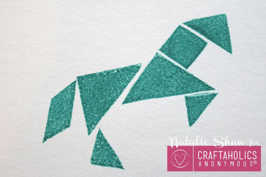 diy tangrams rubber stamps geometric cards (18)