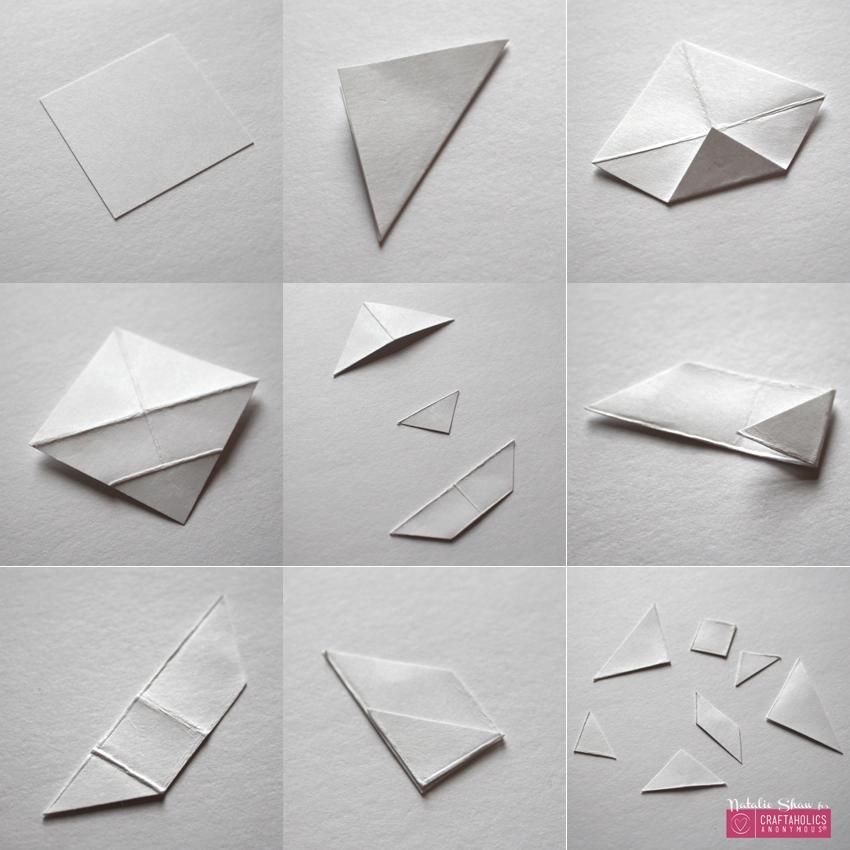 diy tangrams rubber stamps geometric cards (20)