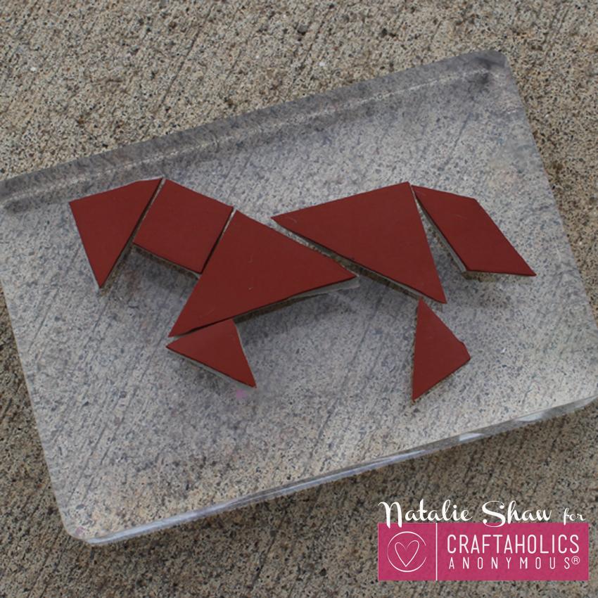 tangrams horse stamp