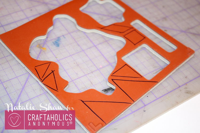 diy tangrams rubber stamps geometric cards (7)