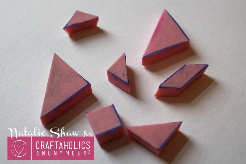 diy tangrams rubber stamps geometric cards (8)