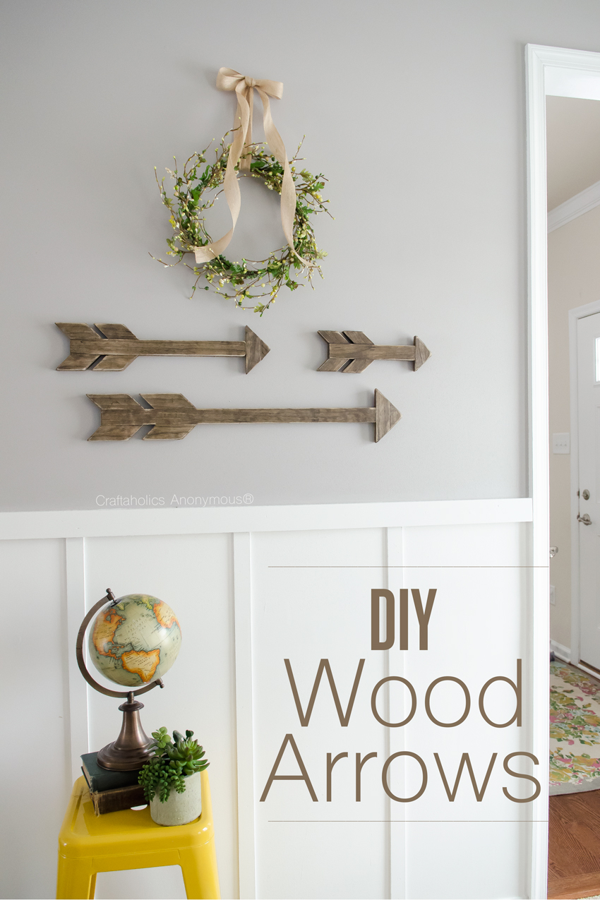 How to make Wood Arrows || Tutorial for 3 different size arrows which are perfect for walls, mantels, shelves, etc!