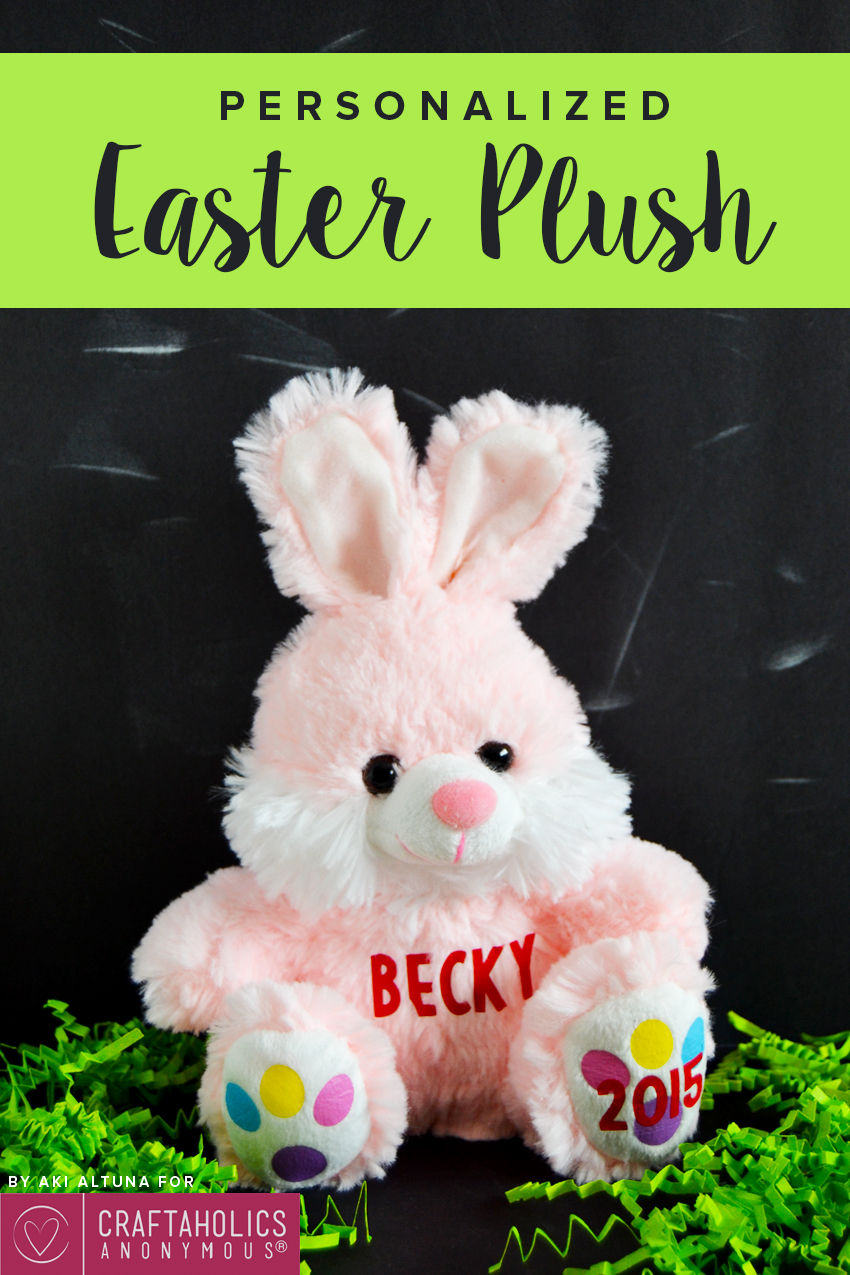 How to personalize a Dollar Store plush for Easter