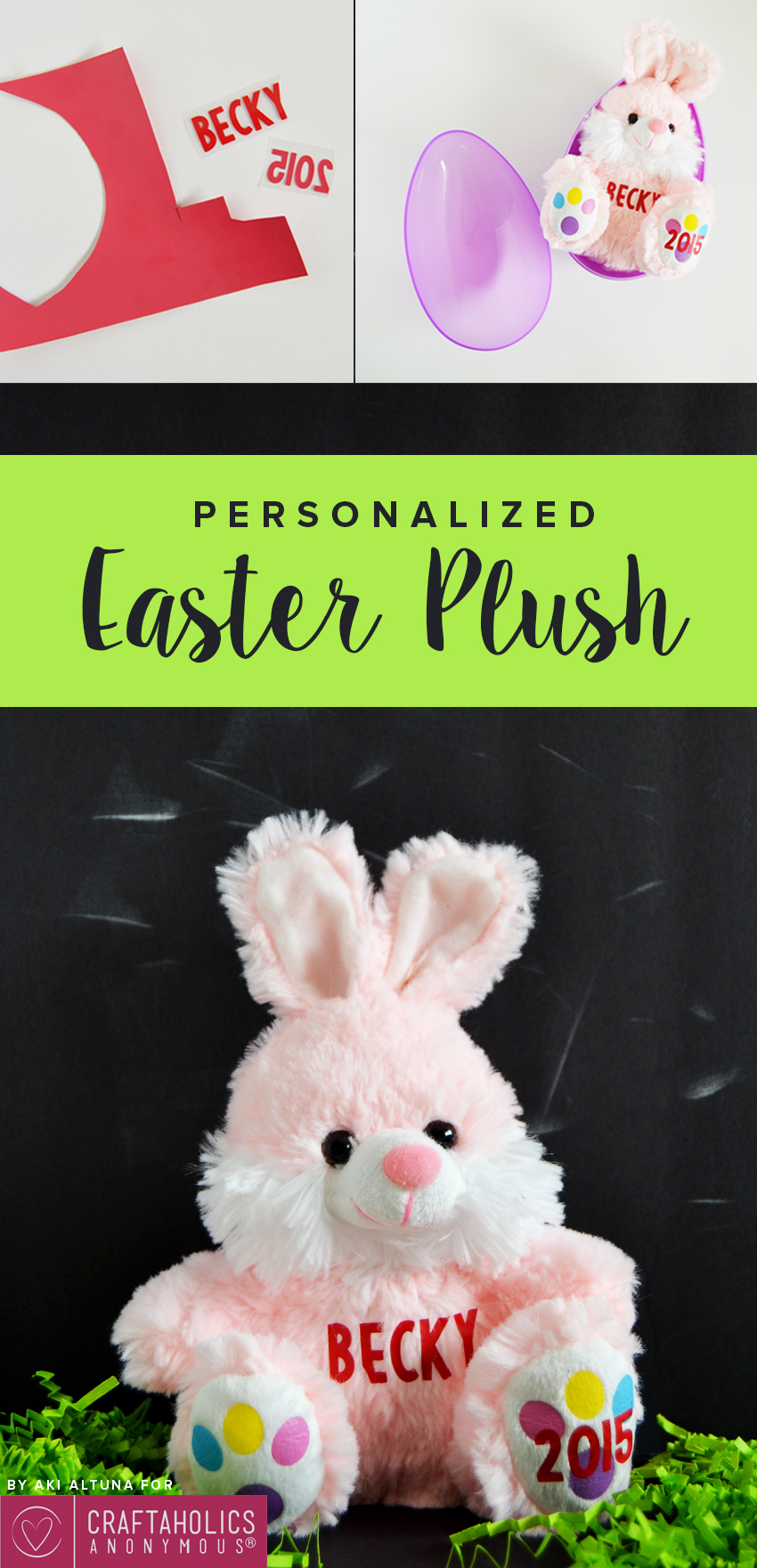 Dollar Store Easter Craft: How to personalize an Easter plush | Craftaholis Anonymous®