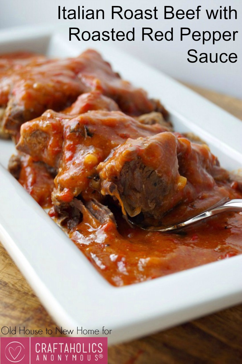 Roasted Red Pepper Roast Beef recipe    sauce is amazing!