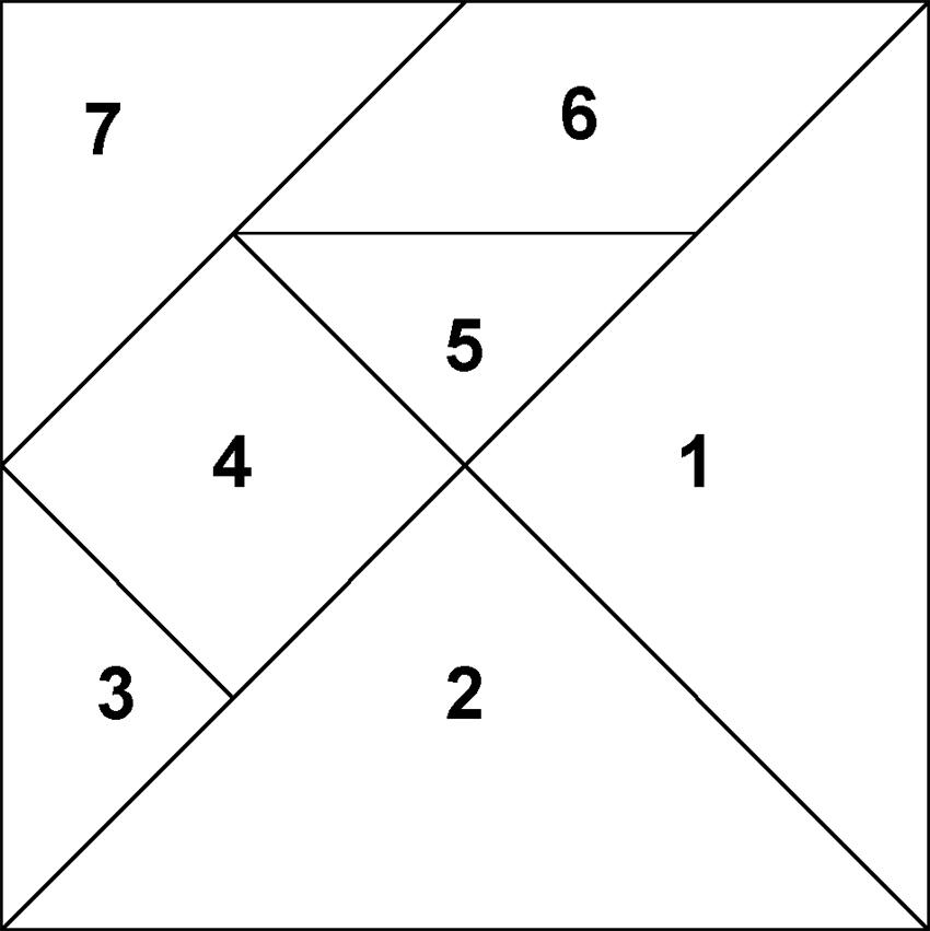 tangram cutting diagram