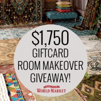 $1750 World Market Room Makeover Giveaway