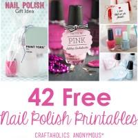 42 Nail Polish Printables