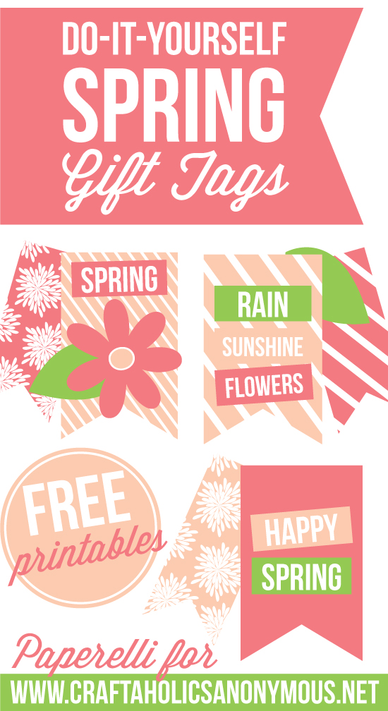 Spring Gift Tags by Paperelli