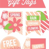 Free Printable Spring Gift Tags