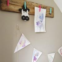 DIY Rustic Children's Art Display