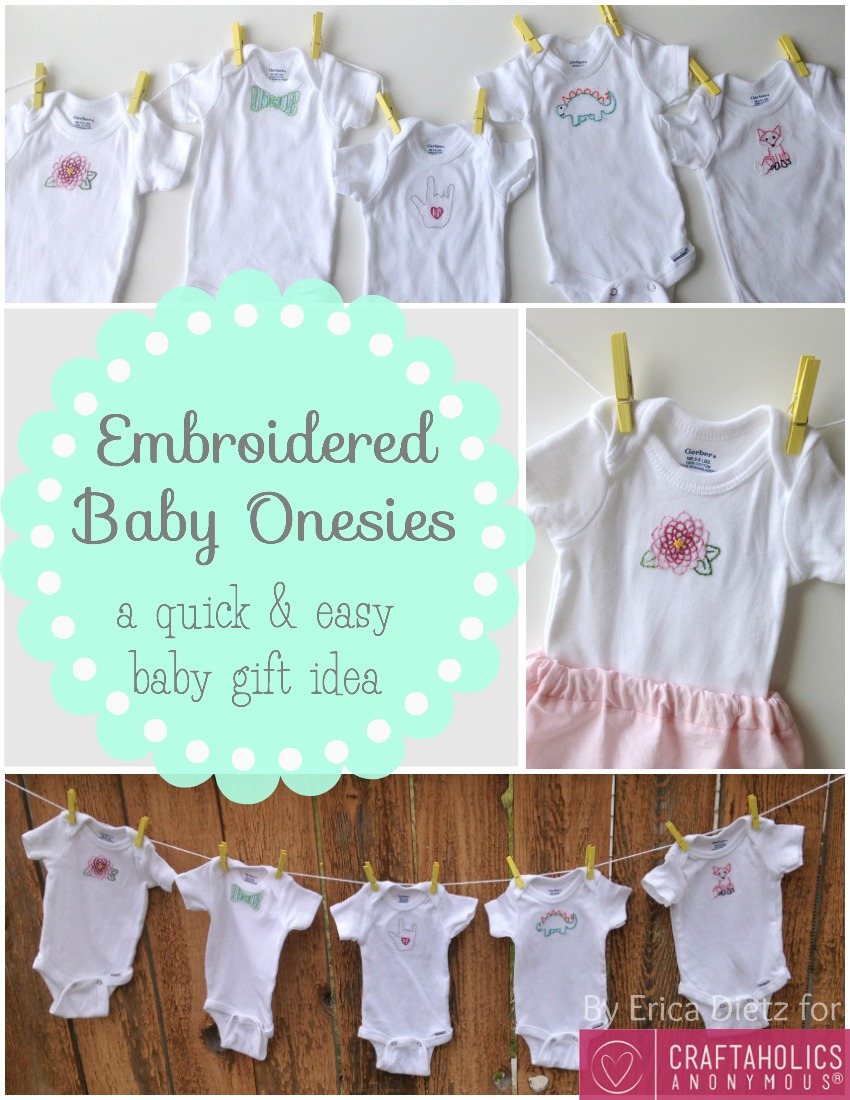 Baby Gift Idea: Embroidered Baby Onesies