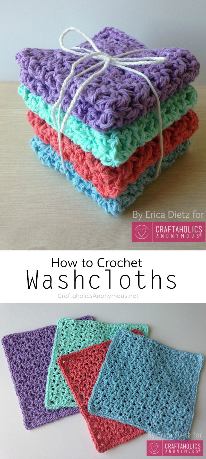 How to crochet washcloths || free pattern!