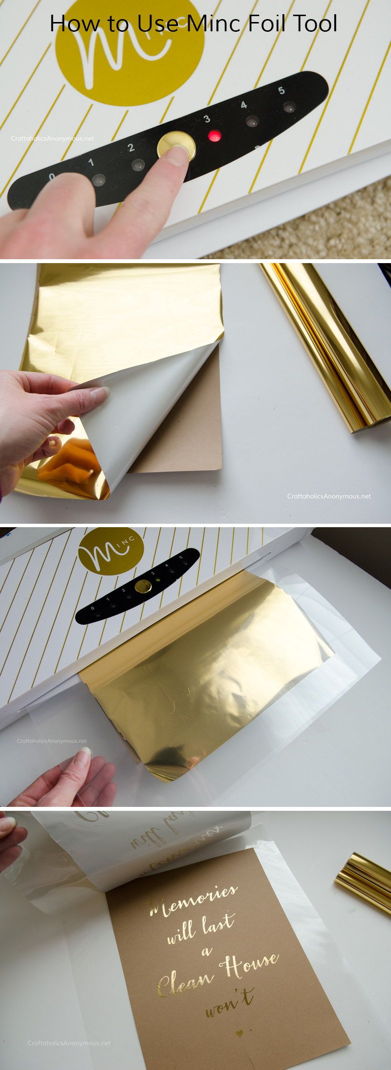 Minc Review + How to use Minc Foil Applicator || Add foil to paper, card stock, vellum, and wood veneer with the Heidi Swapp Minc