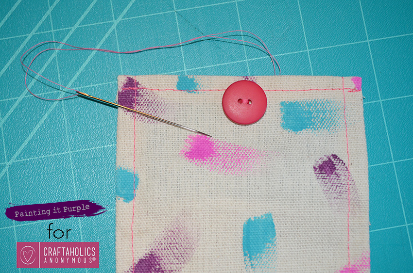How to Sew a Button Pouch