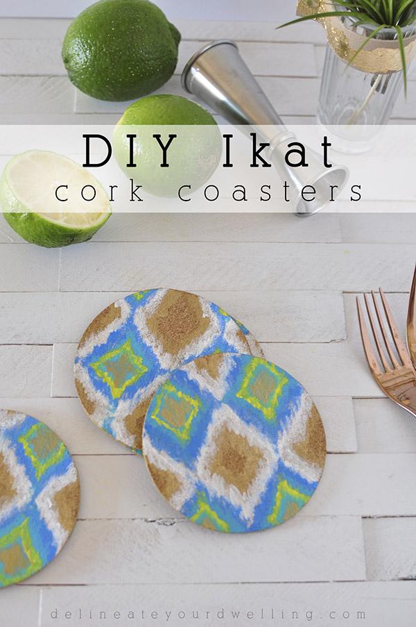 DIY-Ikat-Cork-Coasters