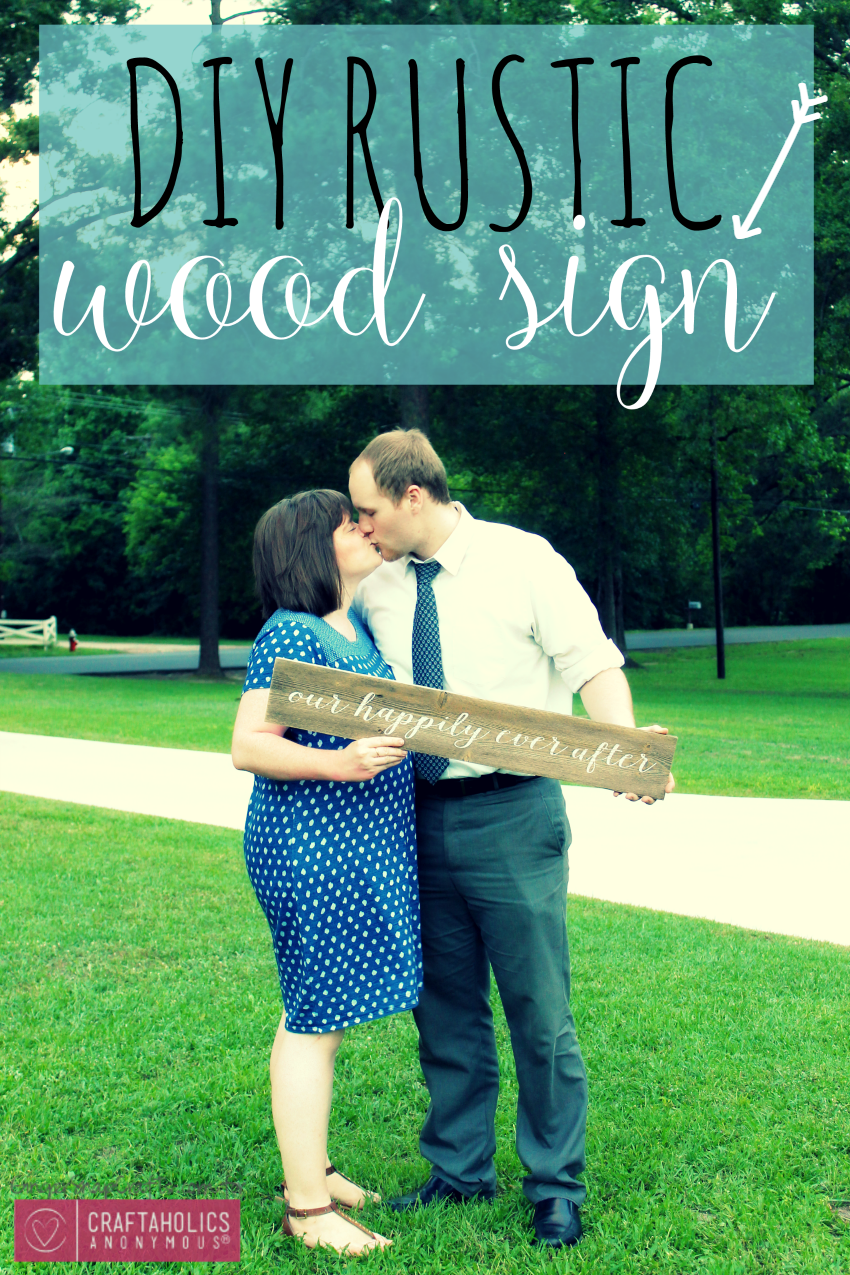 DIY Rustic Wood Sign from GingerSnapCrafts.com #DIY #barnwood #sign