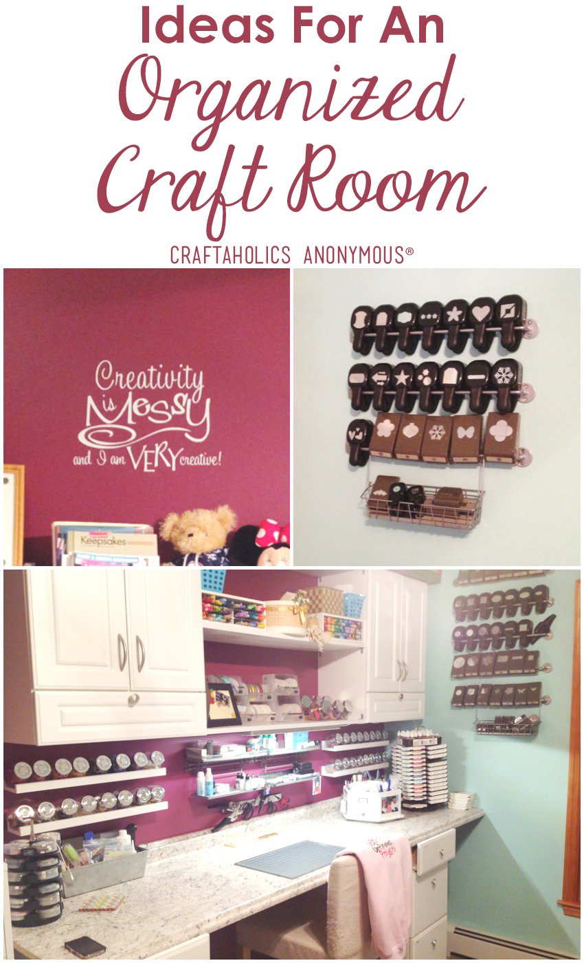 Ideas for and Organized Craft Room Craftaholics Anonymous®