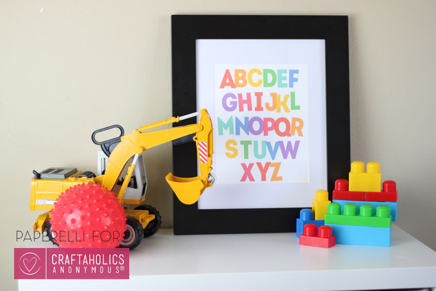 Alphabet Printable Art | Designed by Paperelli for Craftaholics Anonymous