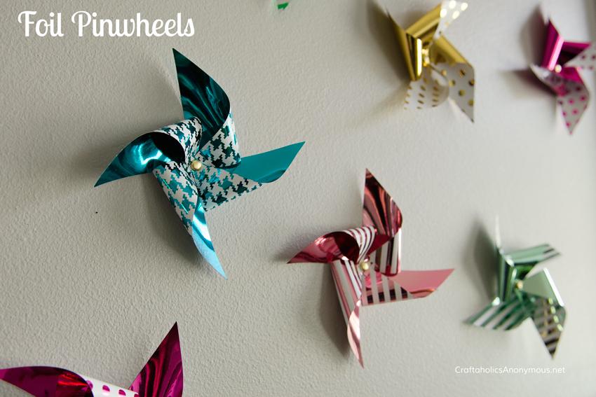 foil pinwheels    love the prints!