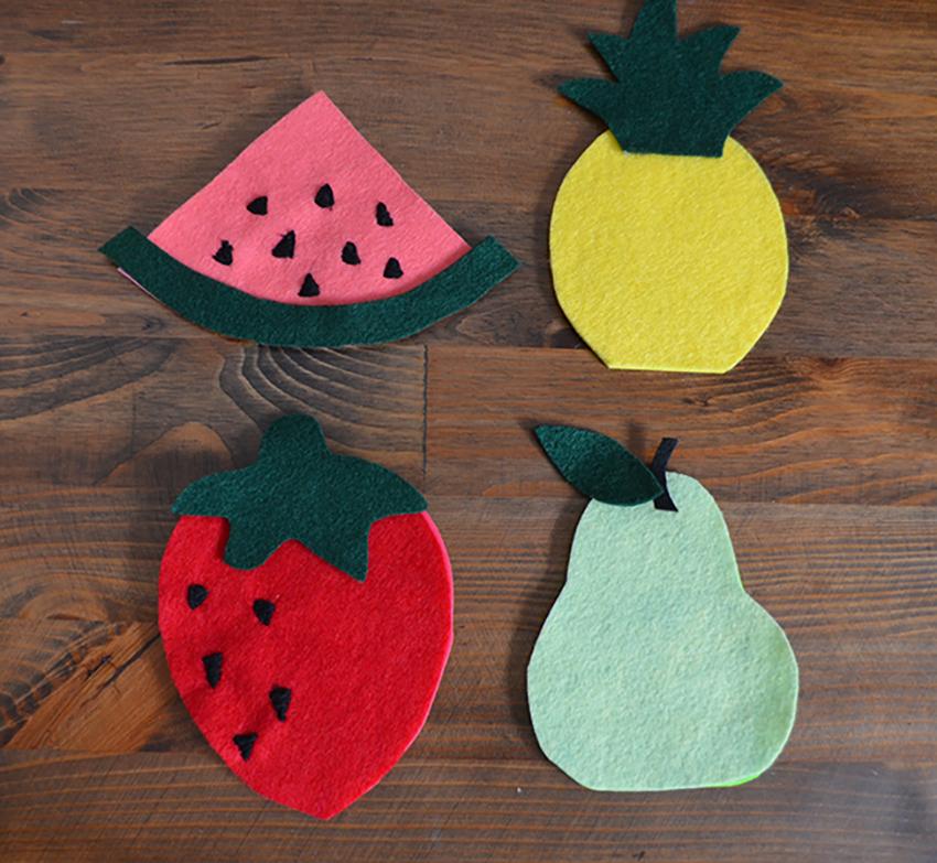 DIY Fruit Coasters Step 2