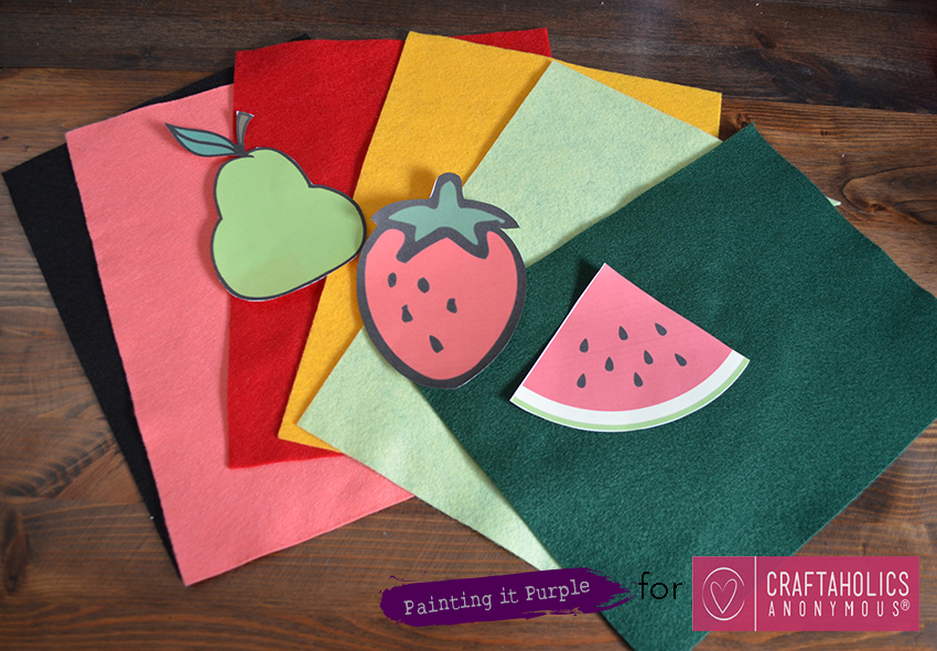 DIY Fruit Coasters - Supplies