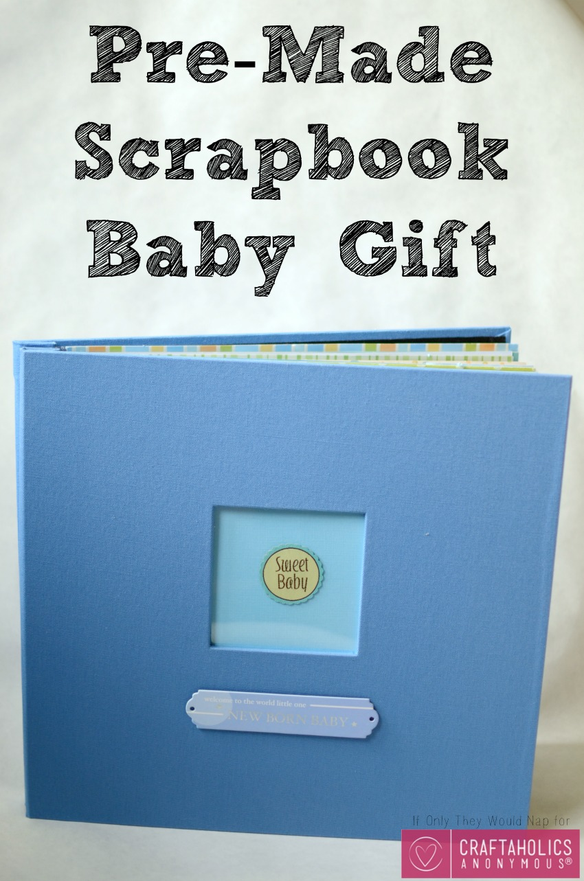 Pre-Made Scrapbook Baby Gift